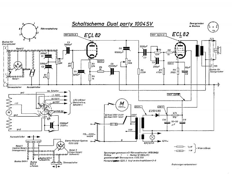Dual Plattenspieler Party Stereo 1004 SV20