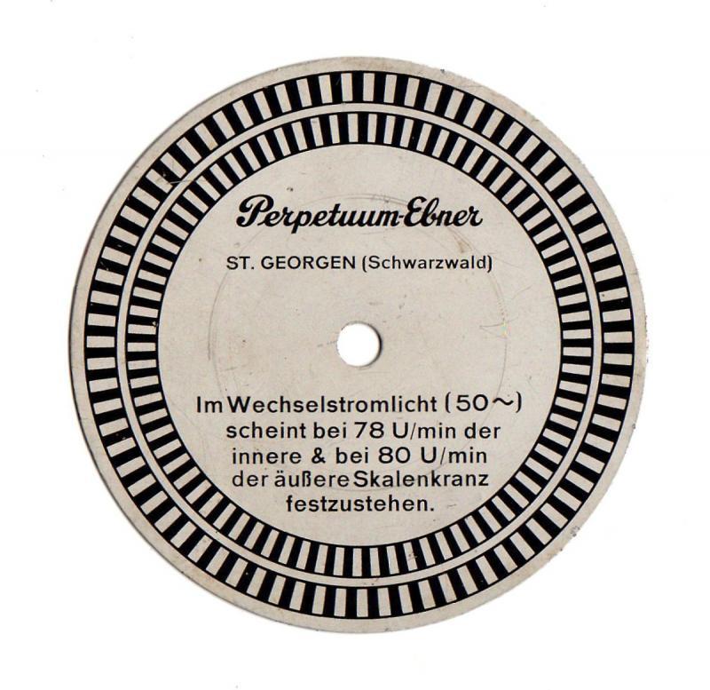Stroboskopscheibe von Perpetuum Ebner